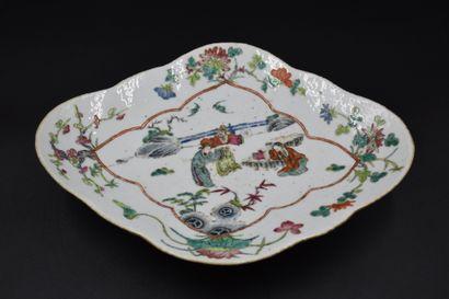 Plat ramequin en porcelaine de Chine à décor...