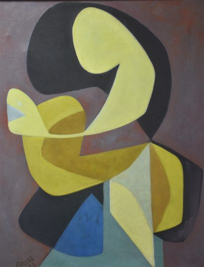 Otto RITSCHL (1885-1976) Otto RITSCHL (1885-1976). Sirènes. Huile sur toile, abstraction....