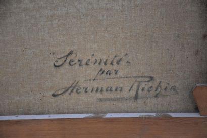 Herman Richir (1866-1942) Herman RICHIR (1866-1942). La Sérénité, 1928. Huile sur...