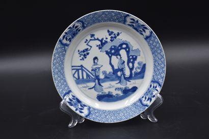 Assiette en porcelaine de Chine à décor...