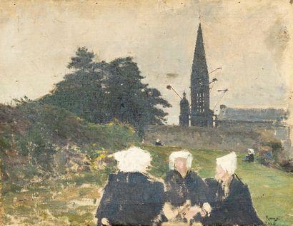 Ecole bretonne du XIXe siècle Le pardon de...