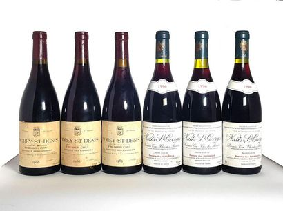 3 bouteilles Nuits-Saint-Georges 1er cru...