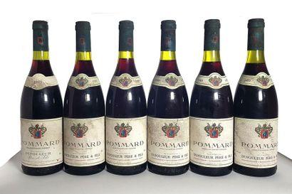 6 bouteilles Pommard, Maison Dufouleur Père...