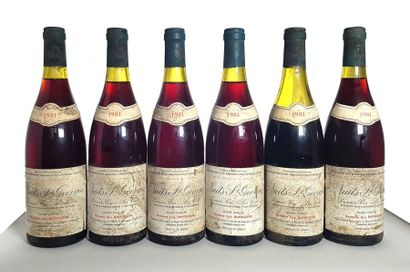 6 bouteilles Nuits-Saint-Georges 1er cru...