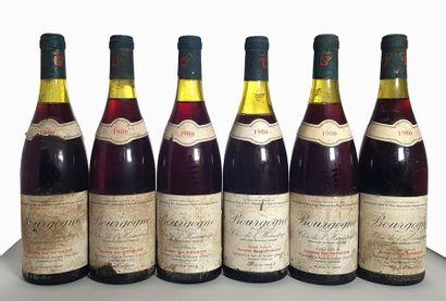 6 bouteilles Bourgogne rouge Clos de l'hermitage,...