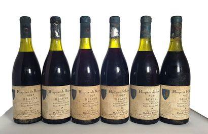 6 bouteilles Beaune des Hospices de Beaune...