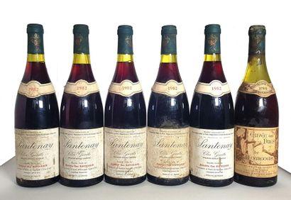 5 bouteilles Santenay Clos genêts, Maison...