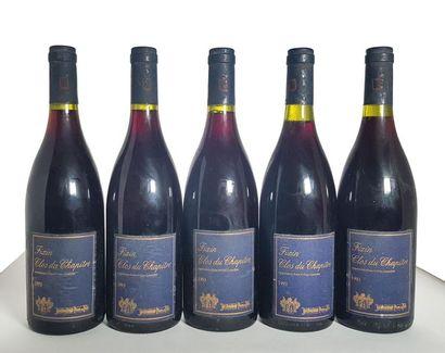 5 bouteilles Fixin 1er cru Clos du Chapitre,...