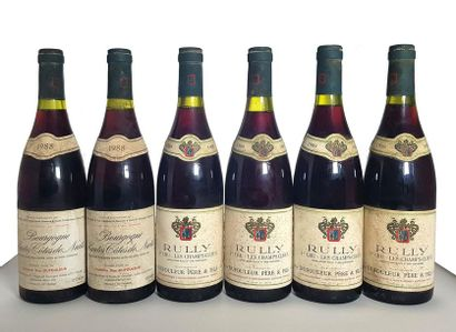 4 bouteilles Rully 1er cru Les champs-cloux,...