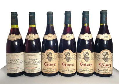 2 bouteilles Bourgogne Hautes Côtes de Nuits,...