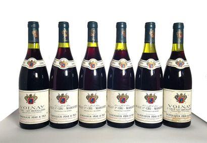 2 bouteilles Volnay 1er cru Les brouillards,...