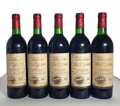 5 bouteilles Margaux, Château les Eyrins,...