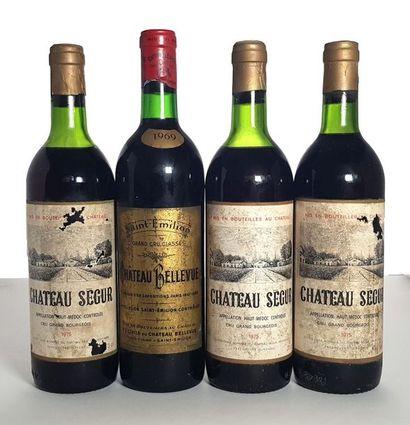 1 bouteille Saint Émilion, Château Bellevue,...
