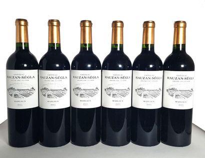 12 Bouteilles Château Rauzan-Ségla, GCC2 Margaux, 2011 (1 étiquette très légèrement...