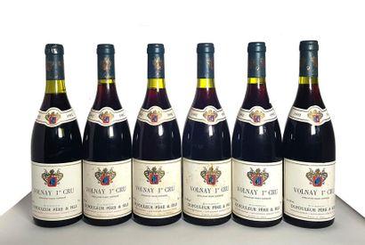 6 bouteilles Volnay 1er cru, Maison Dufouleur...