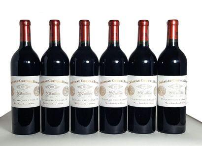 6 Bouteilles Château Cheval Blanc, GCC1A Saint-Émilion, 2011 Caisse bois Lot assujetti...