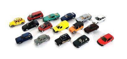 *SOLIDO  Set of sixteen modern model miniature...