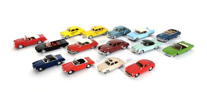 *SOLIDO  Set of 15 model cars from the 50's...