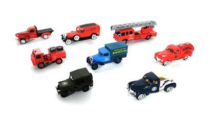 *SOLIDO  Set of eight miniature vehicles...