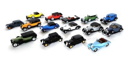 *SOLIDO  Set of fifteen miniature vehicles,...