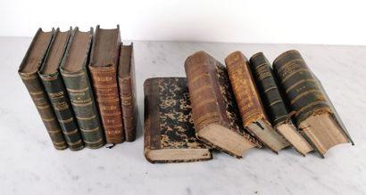 Dix ouvrages de format in-24, demi-reliure...