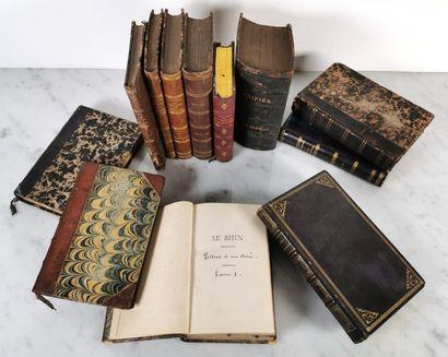 Douze ouvrages de format in-24, demi-reliure...