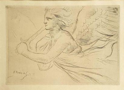 Pierre PUVIS DE CHAVANNE (1824-1898) L'archange...