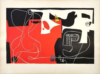 LE CORBUSIER (1887-1965) d'après Les dés sont jetés Lithographie signée dans la...