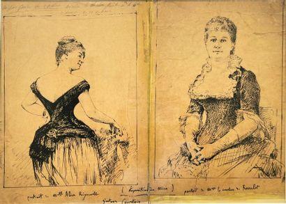 Gustave COURTOIS (1852-1923) Portraits de...