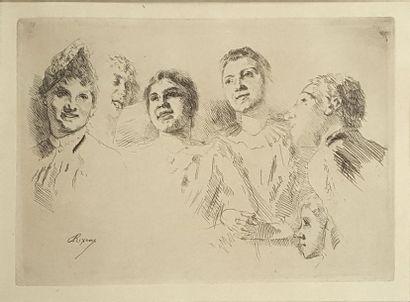Jean-André RIXENS (1846-1924) Les spectateurs...