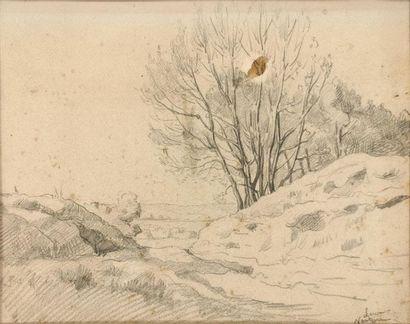 Maximilien LUCE (1858-1941) Paysage à Nanterre...