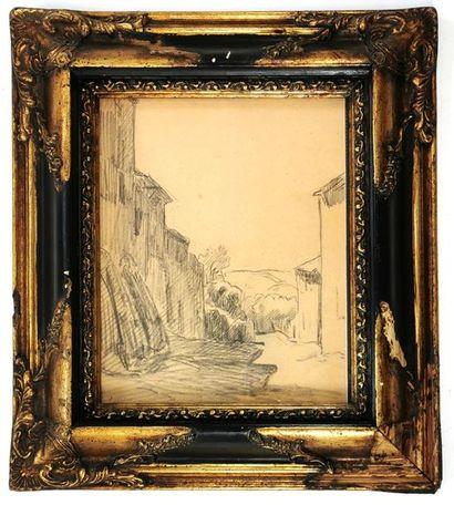Maximilien LUCE (1858-1941) Ruelle Mine de...