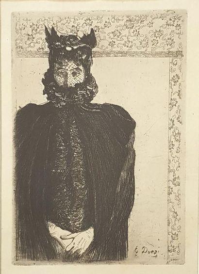 Ernest DUEZ (1834-1896) Portrait de femme...