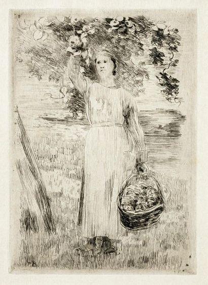 Paul Albert BESNARD (1849-1934) La cueilleuse...