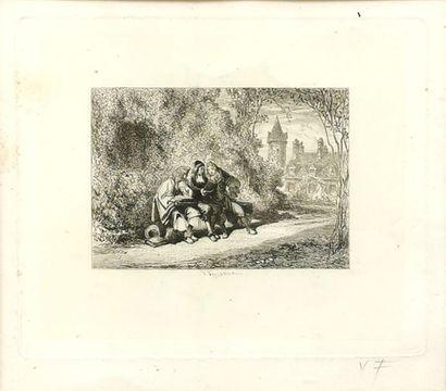 Valentin FOULQUIER (1822-1896) Suite de quatre...