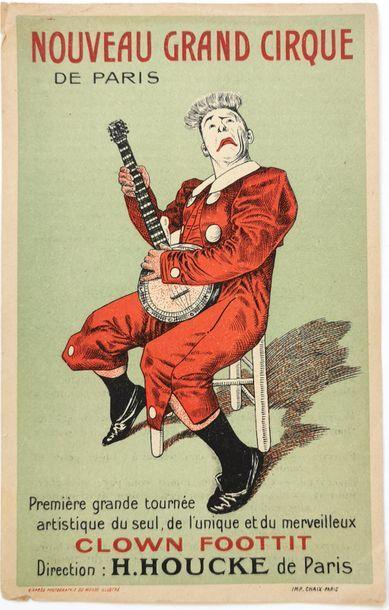 Clown FOOTTIT Petite affichette d'époque,...