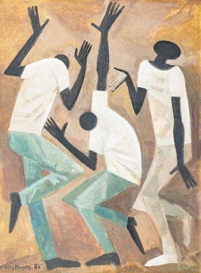 Oleg ZINGER (1910-1998) Le bal de jazz, 1985...