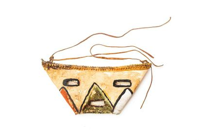 HOPI (USA arizona) Petit masque en cuir Vers...