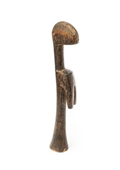 MOSSI (BURKINA FASO) Poupée en bois à patine...