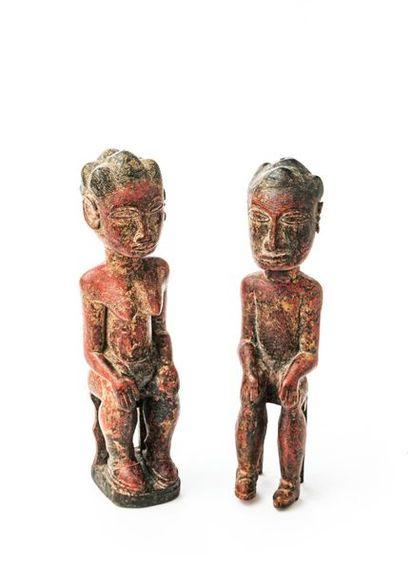 BAOULE (Côte d'Ivoire) Couple de statuettes...