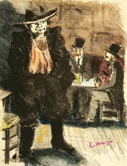 Edmond HEUZÉ (1884-1967)  Aristide Bruant...