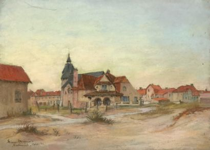 Pierre CHAPUIS (1863-1942)  Vue de Merlimont...