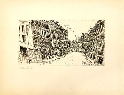 Henri LANDIER (né en 1935)  Vue de ville,...