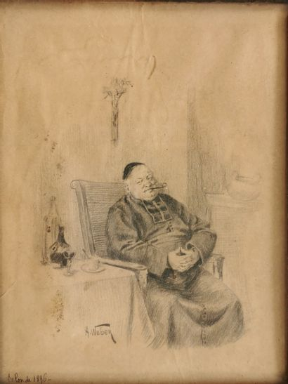 Alfred-Charles WEBER (1862-1932)  Le repos...