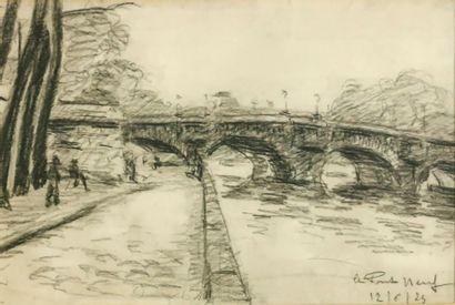 Pascal Émile TROÏLI (1882-1960)  Le pont...