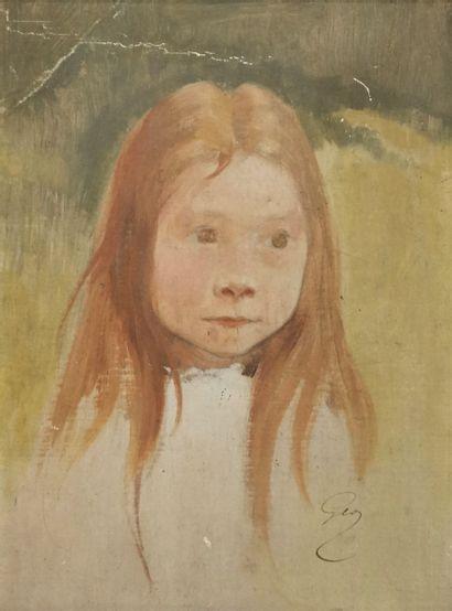 GÉO (Jean GEOFFROY dit) (1853-1924)  Portrait...