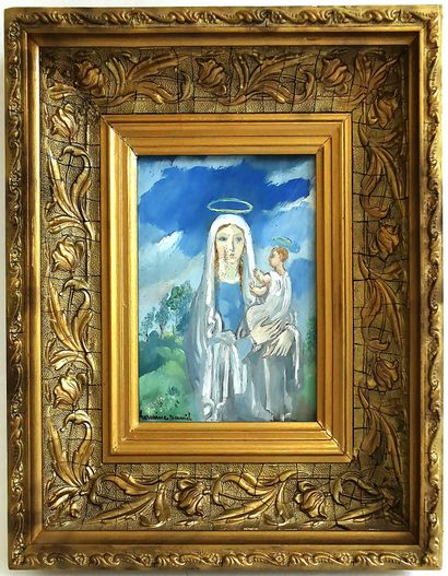 Hermine DAVID (1886-1970)  Vierge à l'enfant...
