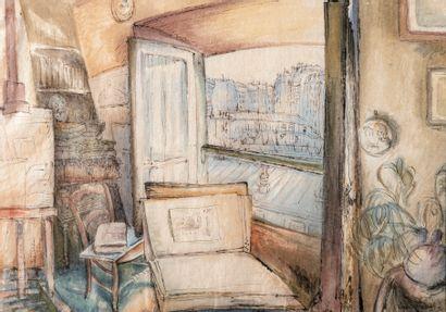 Henri Vergé-Sarrat (1880-1966)  La chambre...