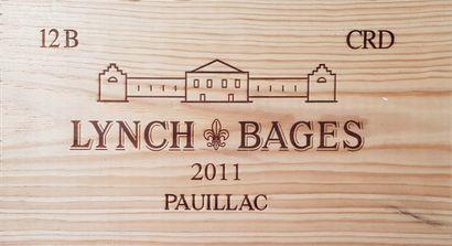 12 Bouteilles Château Lynch-Bages, GCC5 Pauillac,...