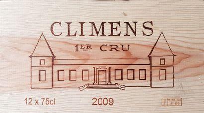 9 Bouteilles Château Climens, C1 Sauternes,...